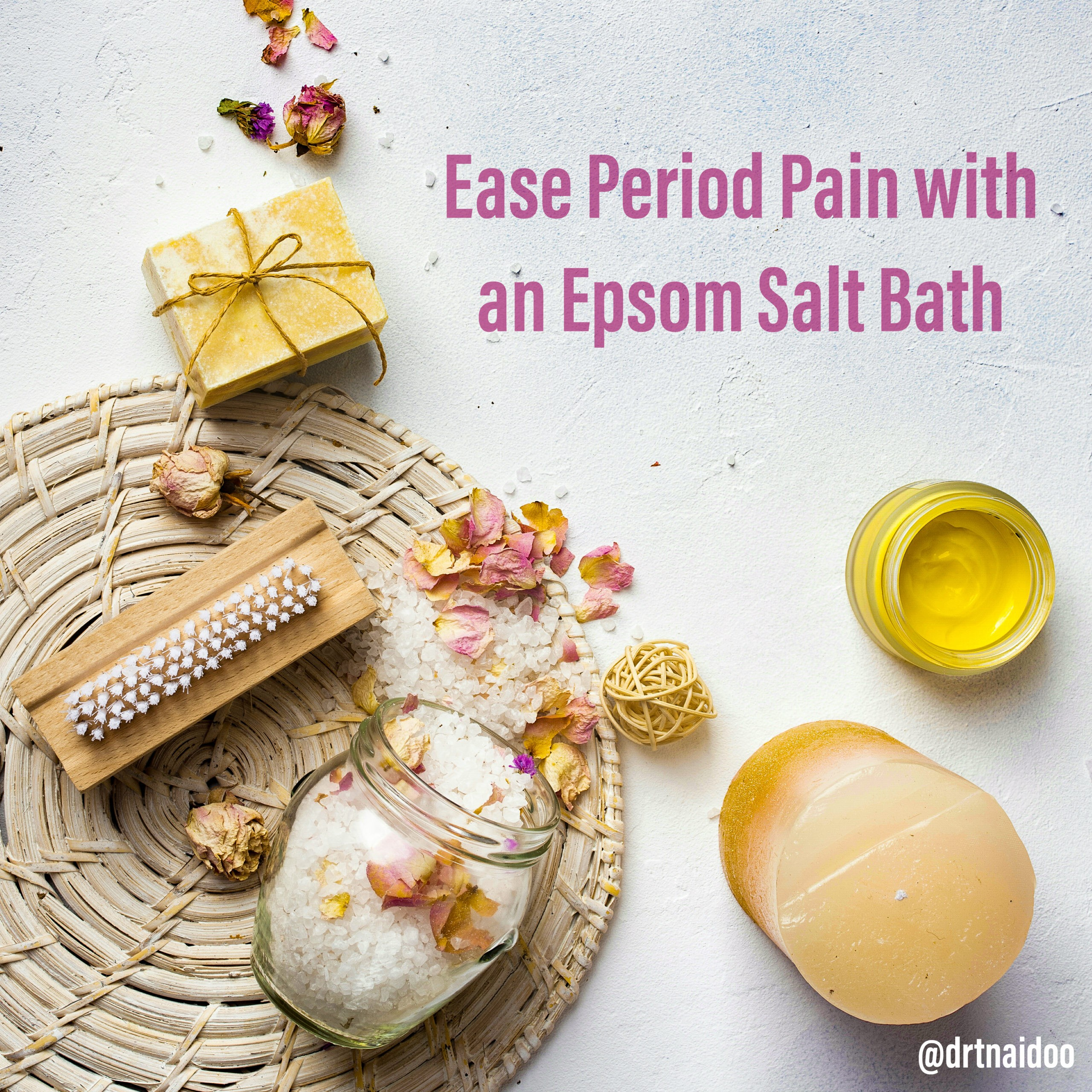 Ease period pain with an epsom salt bath